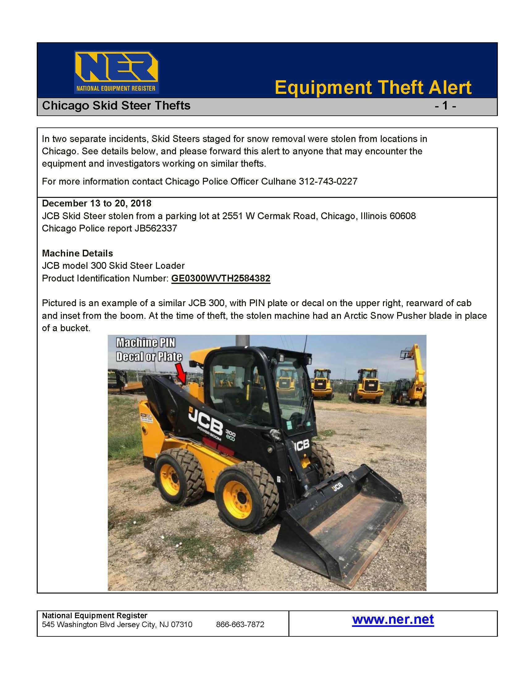 Theft Alerts | National Equipment Register (NER)